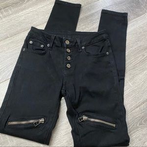 Carmar button fly zip front skinny jeans